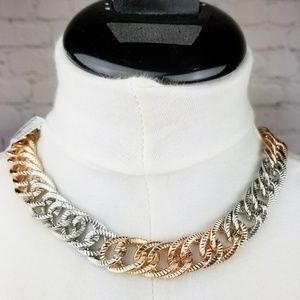 Gold|Silver Chunky Chain Statement Necklace